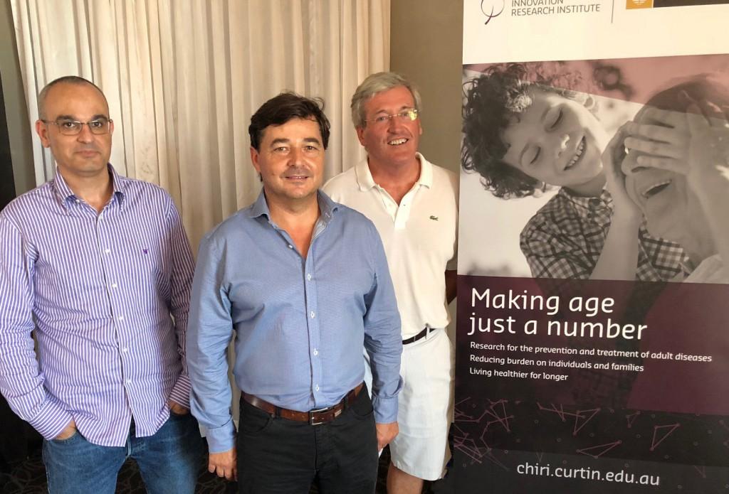 Dr Jose Caparros-Martin, Dr Ricky Lareu and Professor Fergal O'Gara.