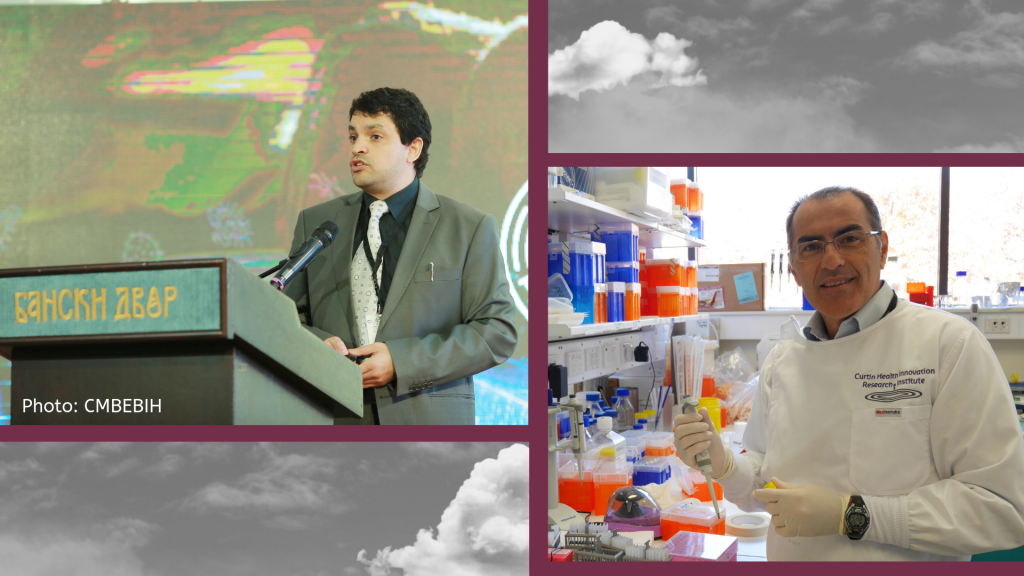 Dr Hani Al-Salami (photo: CMBEBIH) and Professor Marco Falasca.